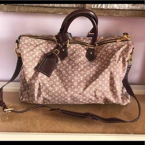 Louis Vuitton Sepia Speedy Voyage 45 Travel Bag